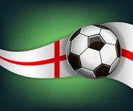Illustration with football or soccet ball and flag of England. Illustration with foootbal or soccet ball and flag of England. Vector for international world Stock Photography