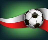 Illustration with football or soccet ball and flag of Poland. Illustration with foootbal or soccet ball and flag of Poland. Vector for international world Stock Photos