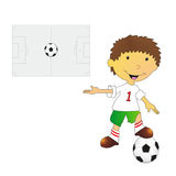 Illustration of footballer Royalty Free Stock Photo