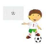 Illustration of footballer Royalty Free Stock Photo