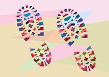Illustration of footprins royalty free illustration