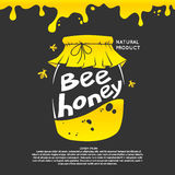 Illustration For Advertising Honey. Stock Photo