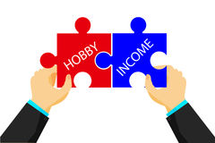 Free Illustration For Connecting Between Hobby And Income Stock Photos - 74674283