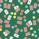 illustration in the form of a seamless pattern consisting of a casino Royalty Free Stock Photography