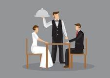Illustration formelle romantique de vecteur de date de dîner Image libre de droits