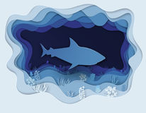 Illustration of a formidable shark on the hunt Stock Images