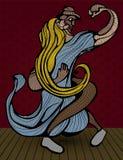 Illustration, forro de danse de couples Photographie stock