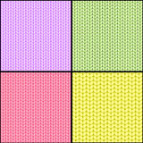 Four fabric seamless textures Royalty Free Stock Image