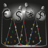 Illustration of four financial stream Royalty Free Stock Photo