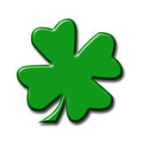 Illustration of a four-leaf clover. On a white background Stock Images