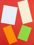 Illustration of Four Rectangular Text Blocks Royalty Free Stock Photography
