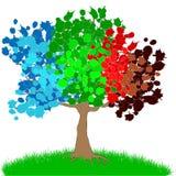 Illustration of the four seasons Stock Photo