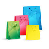 Illustration four shopping bags. Royalty Free Stock Photo