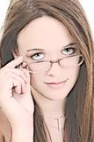 Illustration of Fourteen Year Old In Eyeglasses Royalty Free Stock Photos