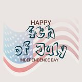 4th of July USA Independence Day. Illustration of Fourth of July. 4th of July holiday banner. USA Independence Day banner Stock Illustration