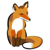 Illustration of a fox. Isolated on white Stock Photography