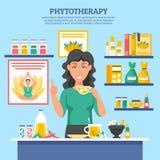Illustration för alternativ medicin Royaltyfri Fotografi