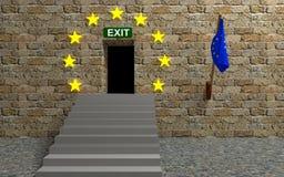 Illustration för att lämna europeisk union Arkivbilder