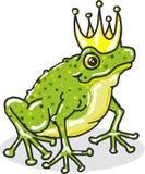 Illustration för beståndsdel för vektor för kunglig person för grodaprinsprinsessa Royaltyfri Bild