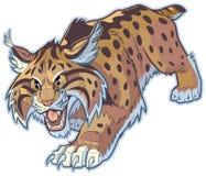 Illustration för bobcat- eller vildkattvektormaskot Arkivbild