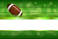 Illustration för boll för amerikansk fotboll för bakgrundsabstrakt begreppgräsplan Arkivfoto
