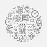 Illustration för cirkel för projektledning Fotografering för Bildbyråer