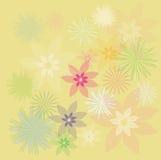 illustration för design för bakgrundbakgrundskort blom- Arkivbild
