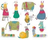 illustration för diagram för tecknad filmteckenbarn färgrik Royaltyfri Fotografi