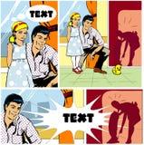 illustration för dotterfamiljfader Arkivfoton