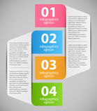 Illustration för Infographic mallvektor Fotografering för Bildbyråer