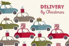 illustration för julleveransvektor Royaltyfria Bilder