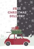illustration för julleveransvektor Royaltyfri Foto