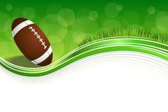 Illustration för ram för boll för amerikansk fotboll för bakgrundsabstrakt begreppgräsplan Arkivbild