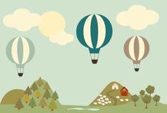 tecknad luftballong