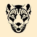 Illustration för vektor för framsida för huvud för snöleopard Royaltyfri Bild