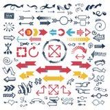 Illustration för vektor för pilrengöringsduksymbol Royaltyfria Bilder