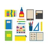 Illustration för vektor för skolatillförsel Arkivbilder