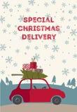 Illustration för vektor för Spesial julleverans Royaltyfri Foto