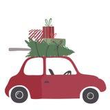 Illustration för vektor för Spesial julleverans Fotografering för Bildbyråer