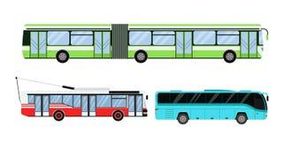 Illustration för vektor för stadsvägtransport Arkivbilder