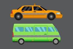 Illustration för vektor för transport för taxi för stadsväg Royaltyfri Foto