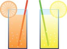 Illustration fraîche de boissons Photographie stock
