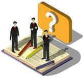 Illustration Fragezeichenkonzeptes der Informationen des grafischen Lizenzfreie Stockbilder