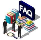 Illustration Fragezeichenkonzeptes der Informationen des grafischen Stockbilder