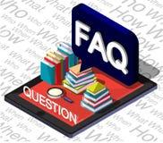 Illustration Fragezeichenkonzeptes der Informationen des grafischen Lizenzfreie Stockfotos