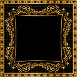 Illustration frame background gold(en) pattern Stock Photo