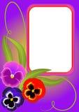 Illustration frame with flower sheet Stock Images
