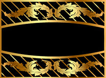 Illustration frame from gild with pattern Royalty Free Stock Image