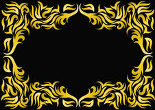 Illustration frame with gold(en) pattern Stock Images