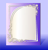Frame for photo with precious stones Royalty Free Stock Photo